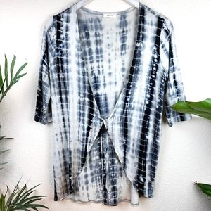 Aran's Den Tie Die Kimono Cardigan Front Tie sz M